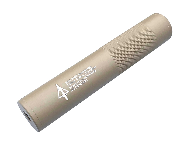 Delta Force Silencer (Full Metal – 190mm in Length – Tan product image