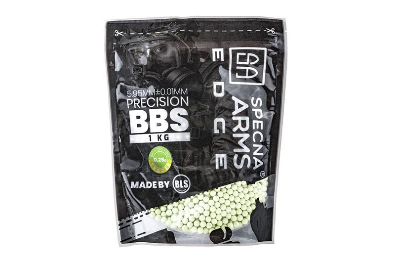 0.25g Specna Arms EDGE™ Tracer BIO Precision BBs – 1kg – Green product image