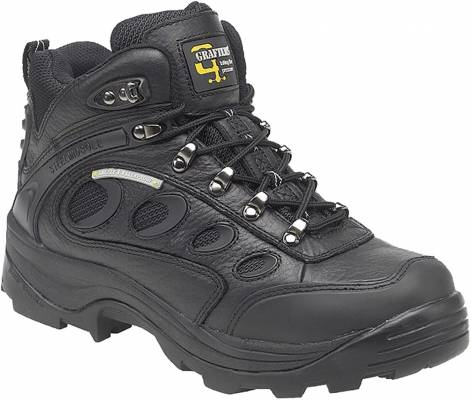 Black Leather/Nylon Safety hiker type Boot product image