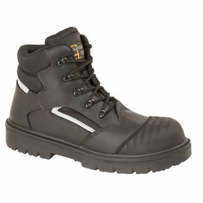 Black Leather/Nylon Safety Boot product image