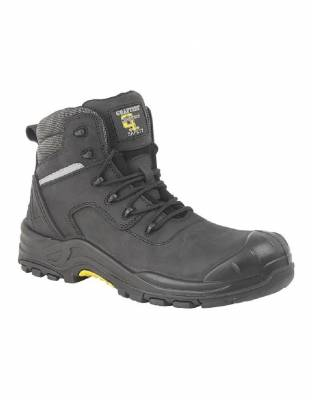 Black Crazyhorse Leather SAFETY Boots product image