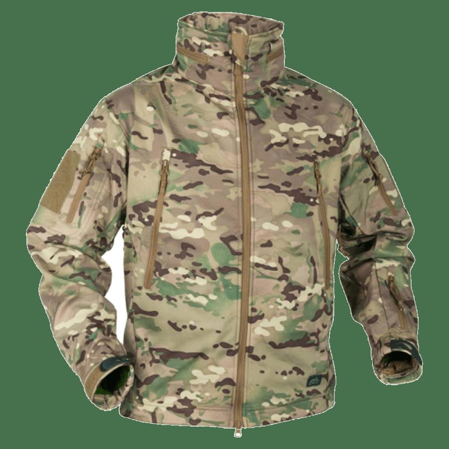 Helikon Gunfighter Soft Shell Jacket Camo featured image